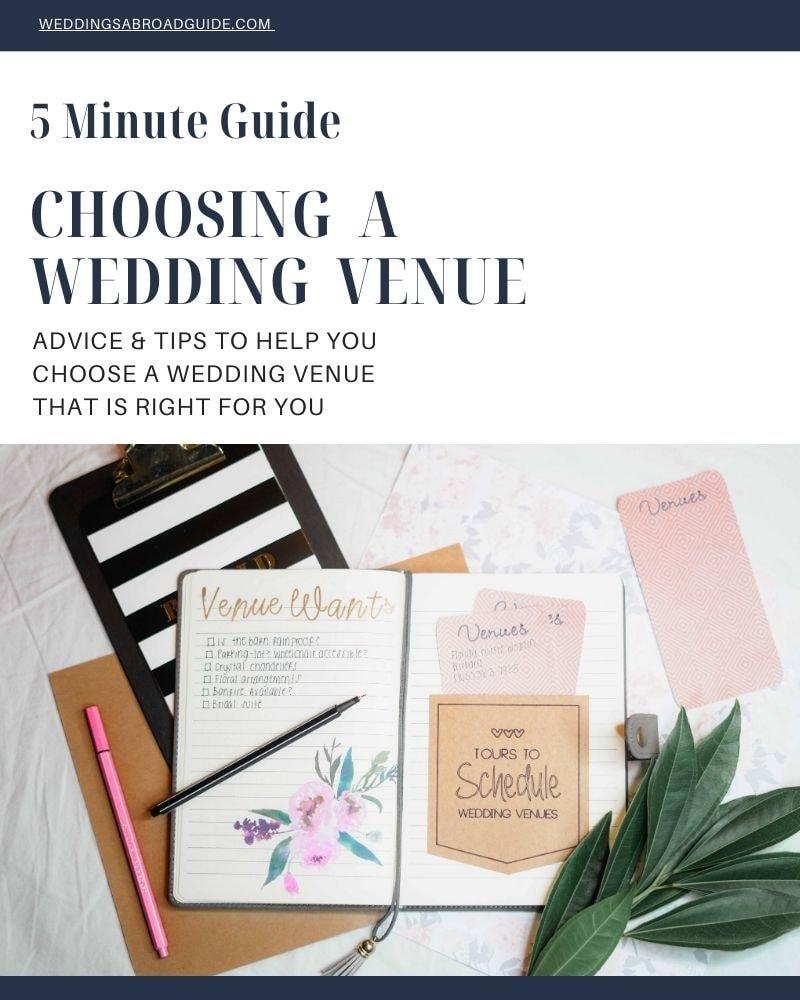 5 Minute Guide to Choosing a Destination Wedding Venue - Download