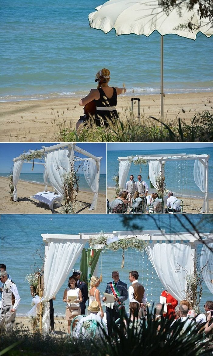 Venue Review Hotel Ambasciatori Pineto Aline & Chris's beach wedding in Italy
