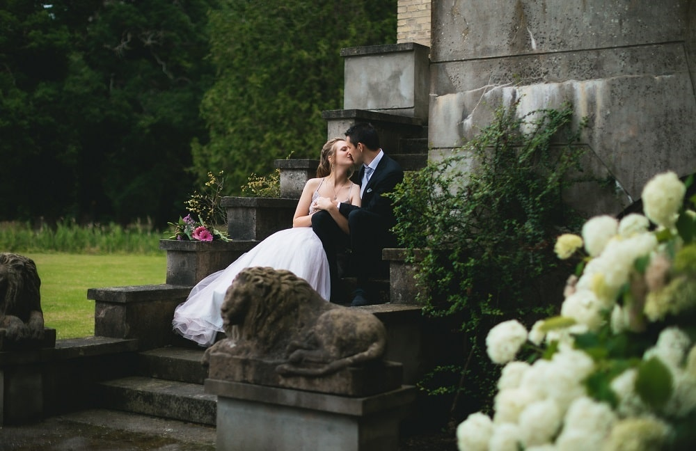 A couple in the romantic park at the Danish castle - Photography belevantseva.com