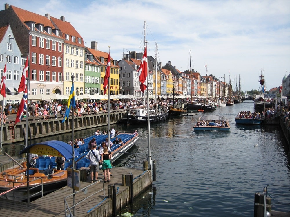 Copenhagen Harbor with its rich history - See the Small Wedding Abroad Ideas from Nordic Adventure Weddings