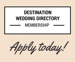 Destination Wedding Directory Membership // weddingsabroadguide