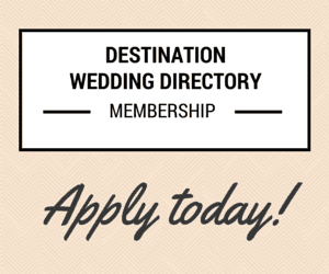 Become a member of the Destination Wedding Directory by weddingsabroadguide.com