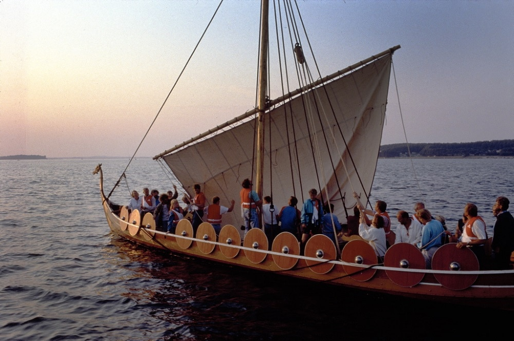 An authentic Viking warship Helge Ask - See the Small Wedding Abroad Ideas from Nordic Adventure Weddings