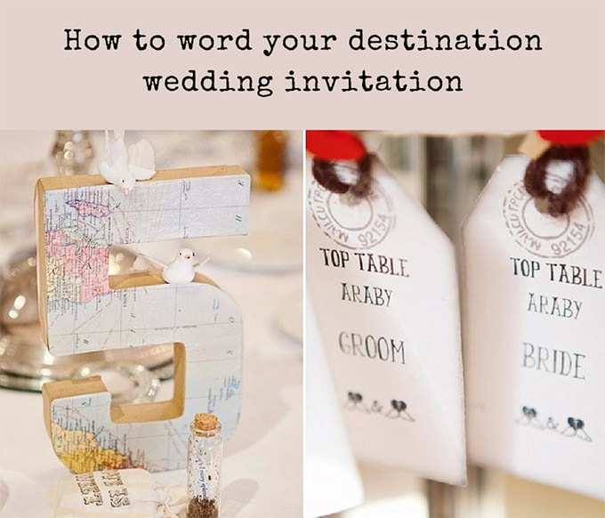 Story Guide To Wedding Invitation Wording: Destination Wedding Invitation Wording