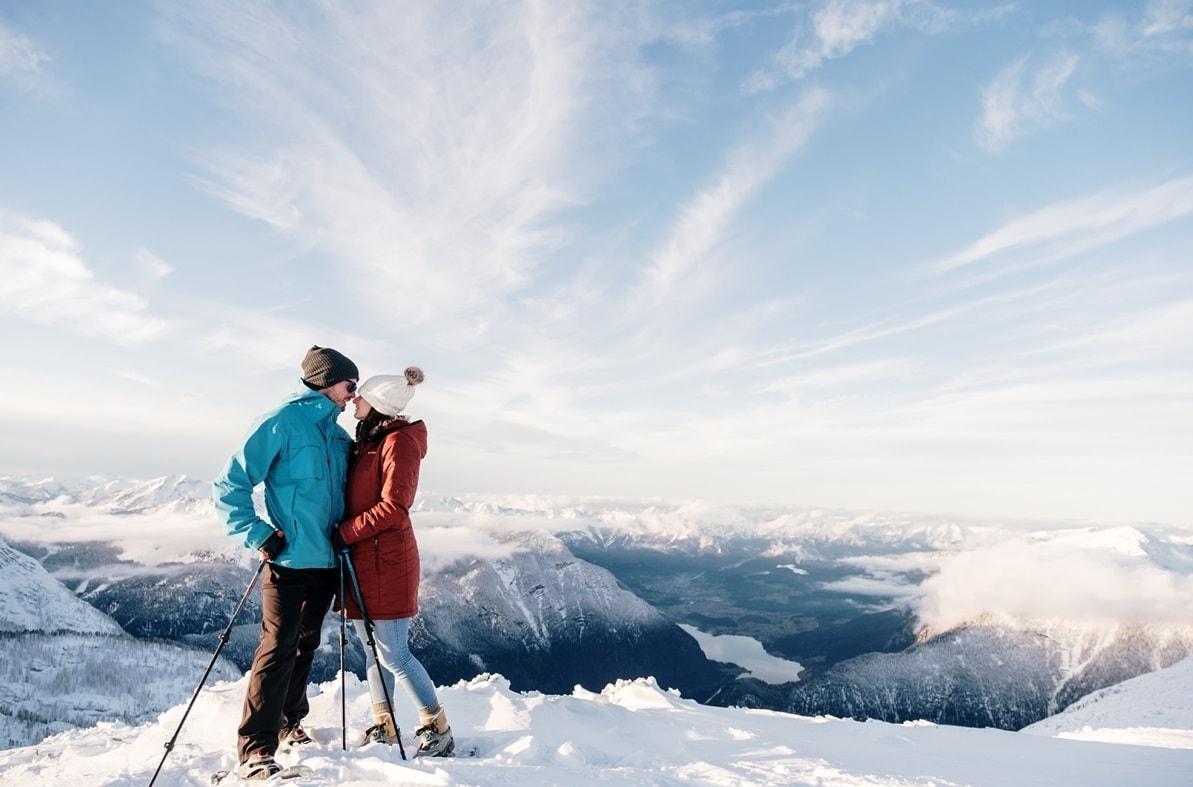 Pre Wedding Activities Krippenstein - Snowshoe -Wild Connections Photography