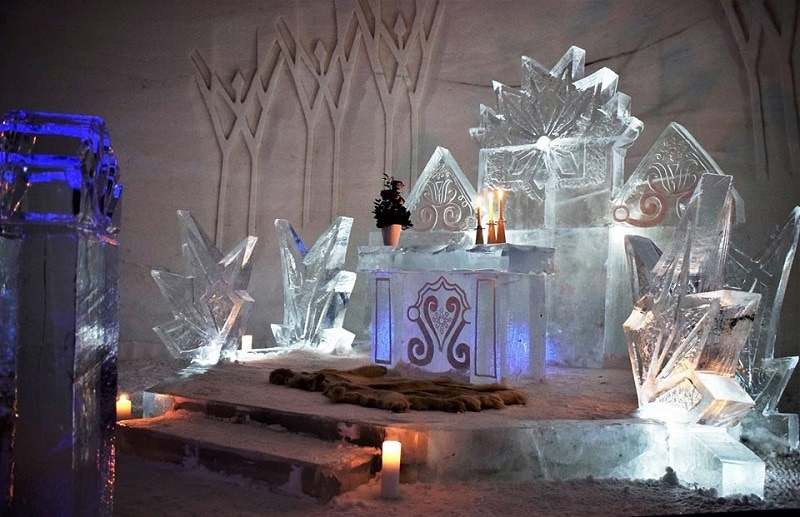 Celebrate you Wedding at Luvattumaa Levi Ice Castle & Hotel Lapland - To find out more visit Weddings Abroad Guide