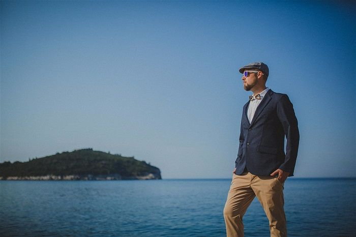 Grooms attire for a beach wedding & hot weather Expert Advice from photographer Matija Kljunak