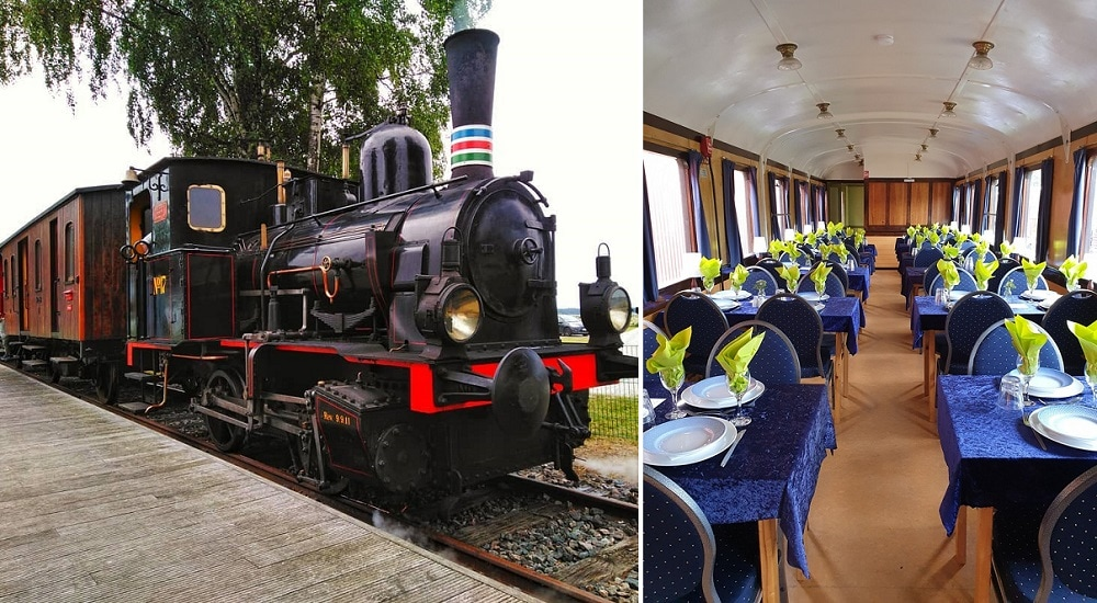 You can get married in Denmark in the old train arrived from 1920 -The wagon of the old Danish train is ready to receive wedding guests