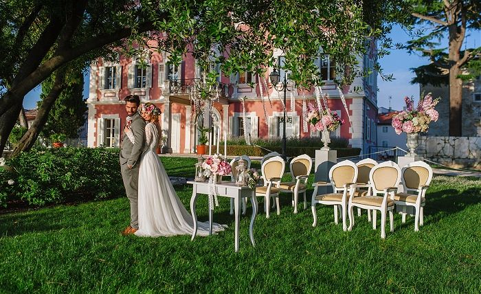 Croatia Wedding Villa - The beautifully restored Villa Polesini in Poreč provides an elegant and spectacular venue for wedding abroad in Croatia