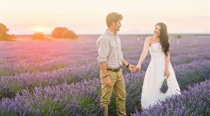 Lavender Field Couples Shoot in Spain by Natalia Ortiz Wedding Planner Spain