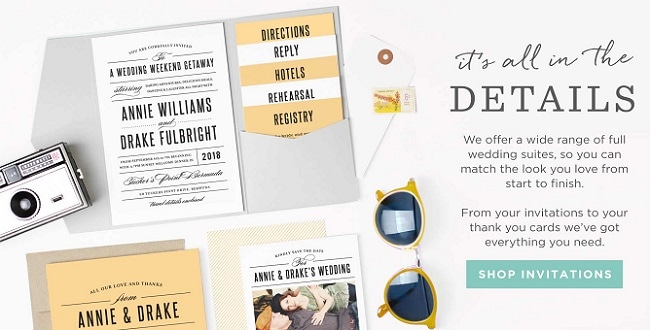 Invites for a Destination Wedding - Fully customisable on line by YOU, with over 180 colours to choose from and 200 unique designs.