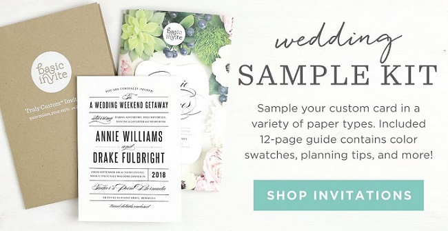 Basic Invite Wedding Invitations: Customisable Invites For A Destination Wedding