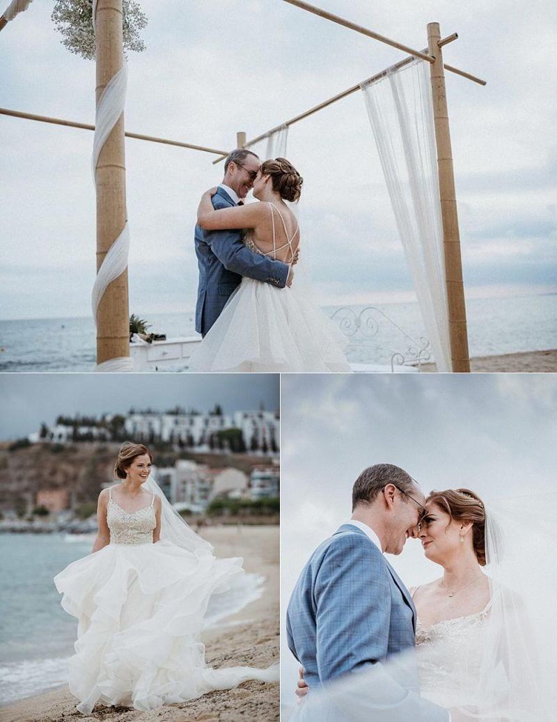 Cost of a Wedding in Spain a Guideline by Barcelona Brides. Intimate Barcelona Beach Wedding - Photography Asier Altuna