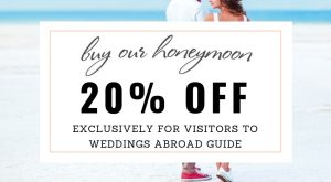 Save a massive 20% when you use our exclusive promo code at Buy Our Honeymoon Wedding Gift List and Honeymoon Registry. A polite way of asking for wedding gifts to help fund your honeymoon expenses, and a meaningful way for your guests to give them.