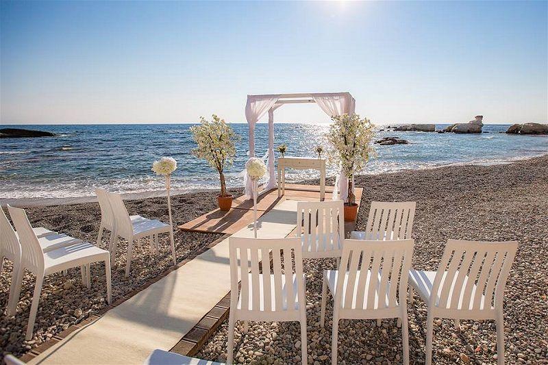 Luxury Wedding Venue With Private Beach: Cap St Georges Beach Club Resort Wedding Venue Cyprus