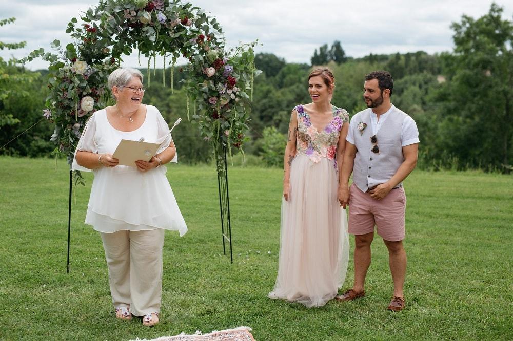 Ceremonies in France Wedding Celebrant Gaynor McKernan Review Hattie & Michael
