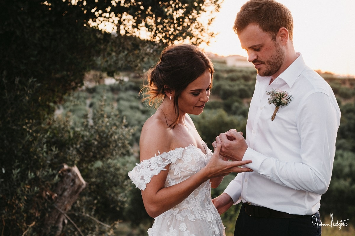 Daisy & Peter's Real Wedding Abroad in Crete in COVID-19 - Graham Hodgetts Photography
