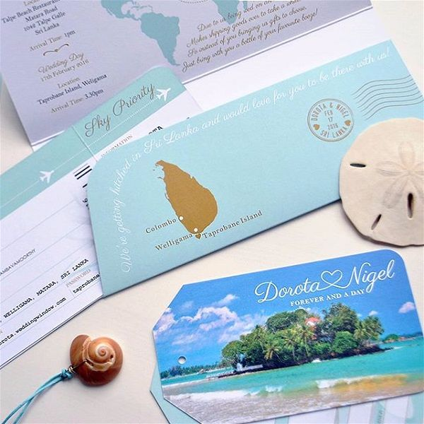 Average Cost Of A Wedding Abroad: Destination Wedding Invitations
