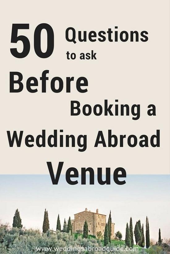 Guest Information Checklist For A Destination Wedding