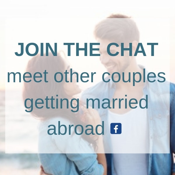 Join the Chat in our Destination Wedding Facebook Group from Weddings Abroad Guide