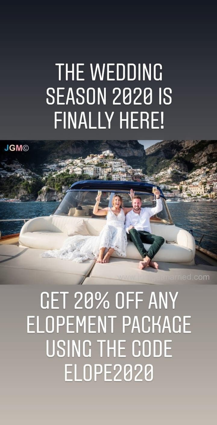 Just Get Married Italy Elopement Special Offer for 2020