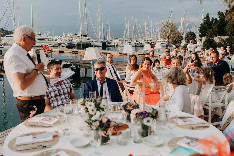Fethiye Beach Wedding Turkey by EGG Organisation photography by numbeos.com -Ali & Paul's Real Wedding Story Weddings Abroad Guide