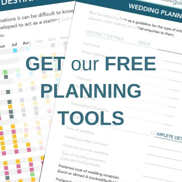 Free Planning Tools to help Plan a Destination Wedding Abroad from Weddings Abroad Gide