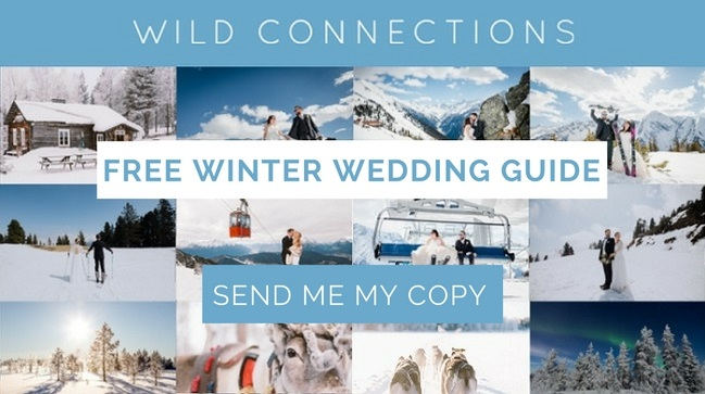 Grab your Copy of your FREE Winter Wedding Guide by winter wedding specialists Wild Connections Photography