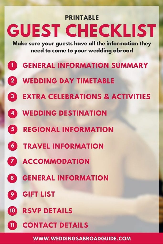 Wedding Gift Etiquette Traveling Guests : Destination Wedding Etiquette - Download Your Free Guest Information ...