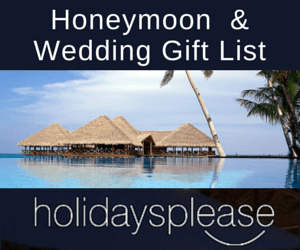 Honeymoon Wedding Gift List