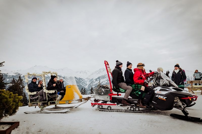 Skiing in Austria after wedding is an amazing activity you can try! | Image: Wild Connections Photography