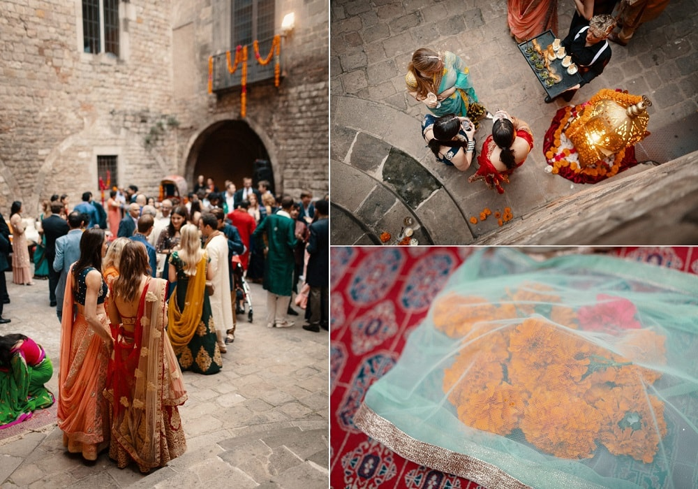 Indian Wedding in Spain, Mehndi In Palau Requesens Barcelona | Planning by Barcelona Brides | Photography by And I Love You So