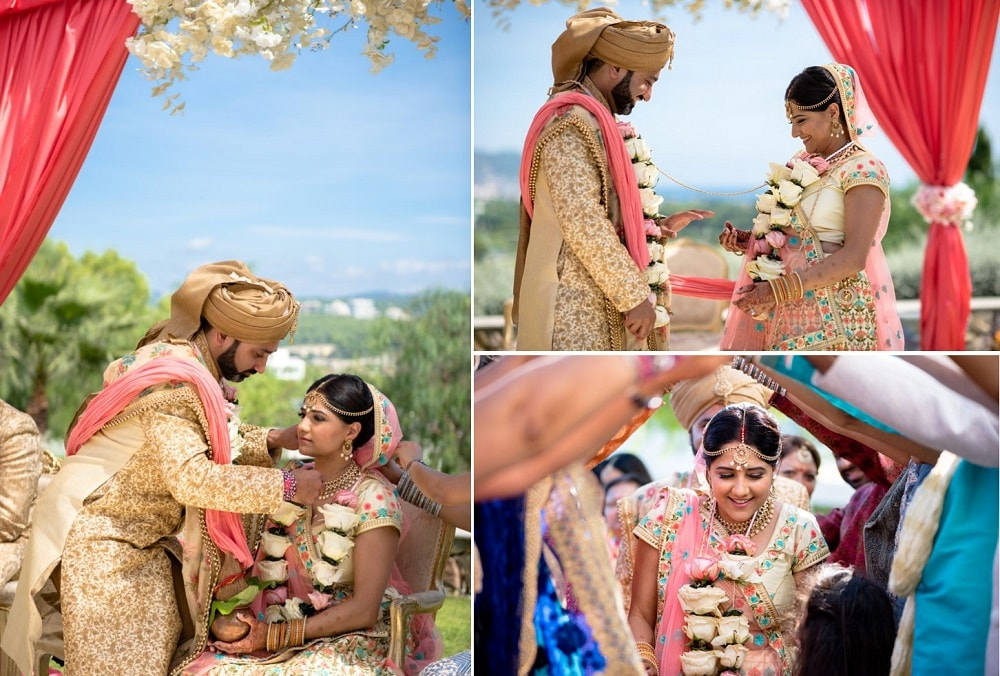 Tina & Jay's Indian Wedding in Spain at Dolce Sitges | Planning by Barcelona Brides | Photography by Ed Pereria