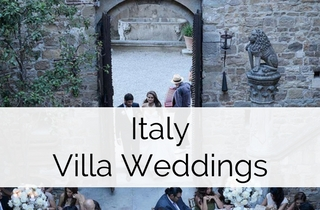Read the about the 4 different types of Villa Weddings for a destination wedding in Italy by Italy Italian Weddings - Weddings Abroad Guide