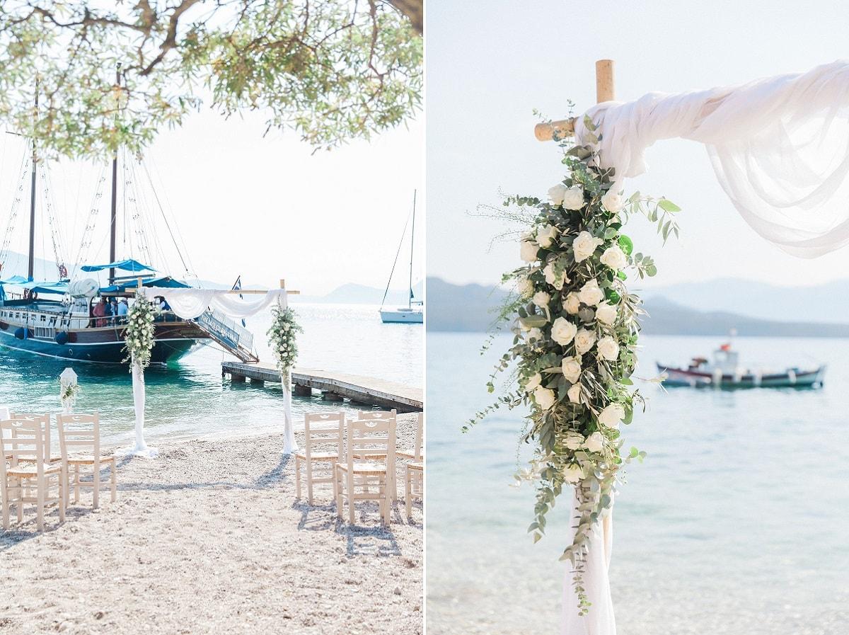 Unique Wedding in Greece - Covid Q & A - Greek Wedding Abroad | Planned by Lefkas Weddings | Maxeen Kim Photography
