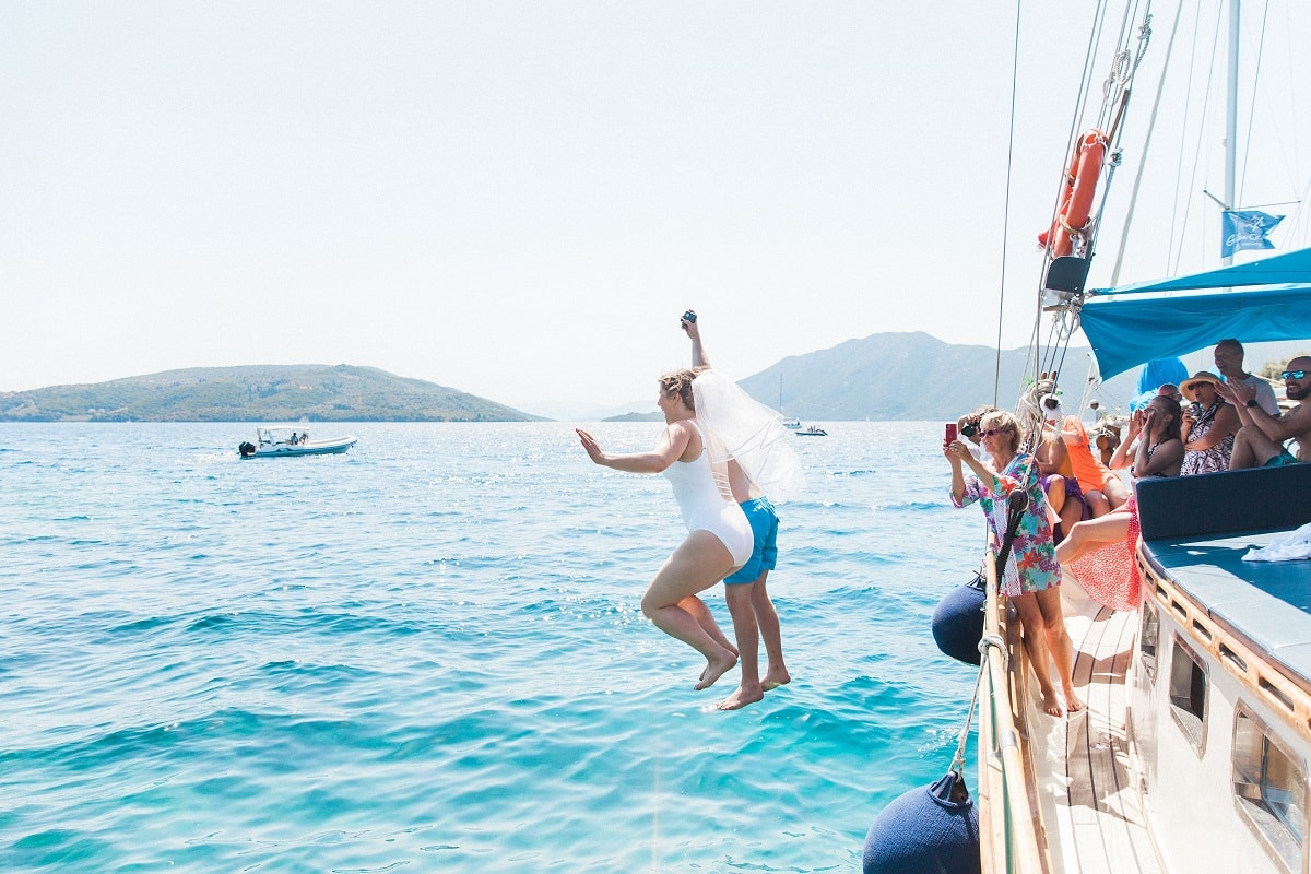 Connie & Rich's Fun Wedding Abroad in Greece   Planned by Lefkas Weddings   Maxeen Kim Photography   Lense2Lense Videography