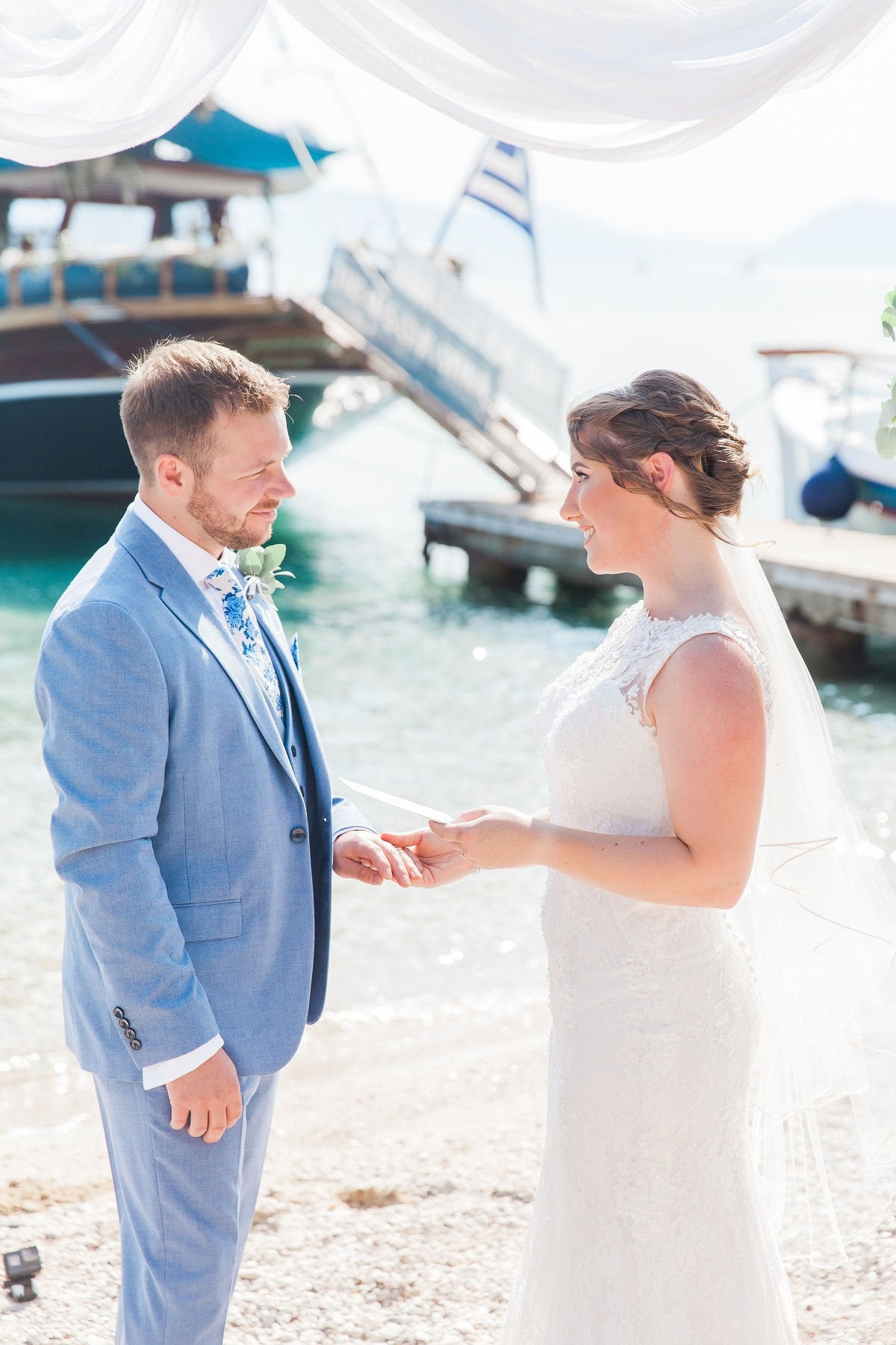 Beach Wedding Ceremony Lefkas Greece - Greek Wedding Abroad | Planned by Lefkas Weddings | Maxeen Kim Photography