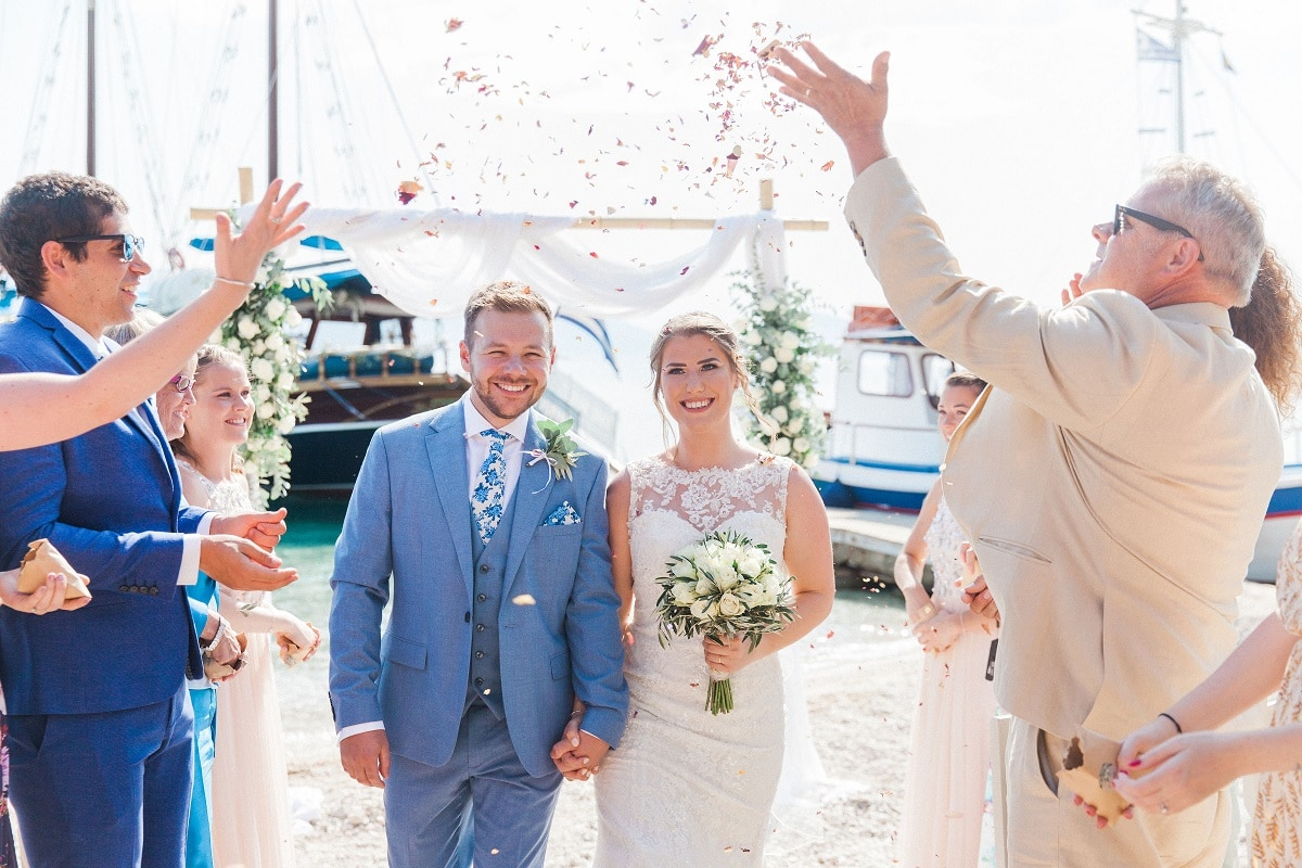 Rich & Connie's Greek Island Wedding Abroad | Planned by Lefkas Weddings | Maxeen Kim Photography
