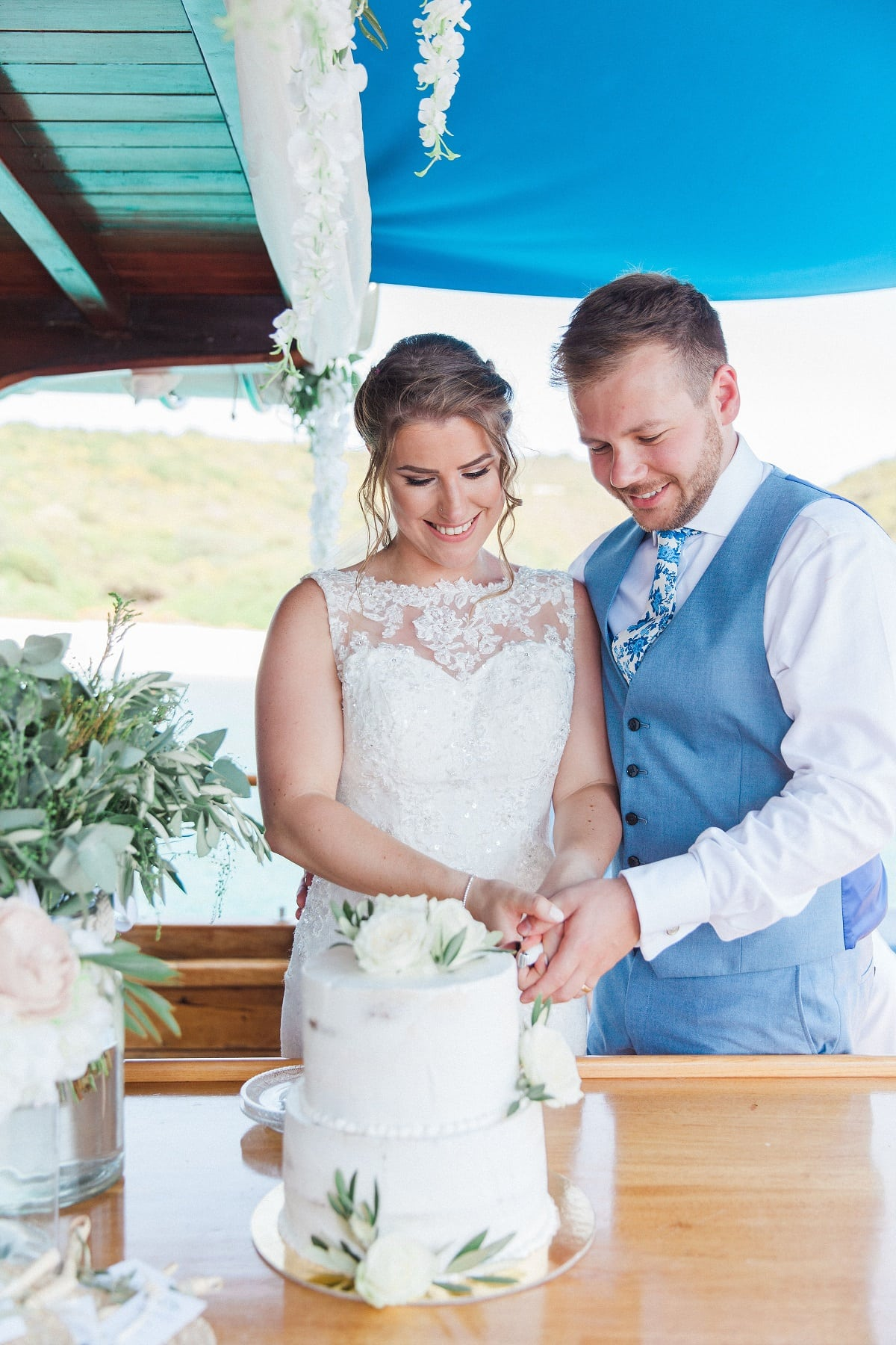 Boat Drinks Reception - Greek Wedding Abroad   Planned by Lefkas Weddings   Maxeen Kim Photography