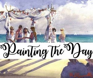 Painting the Day. Unique and personalised, Paul Raymonde is a live wedding & event painter.0