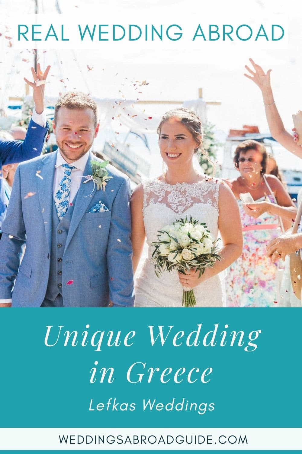 Intimate Real Wedding Abroad in Greece | Planned by Lefkas Weddings | Maxeen Kim Photography