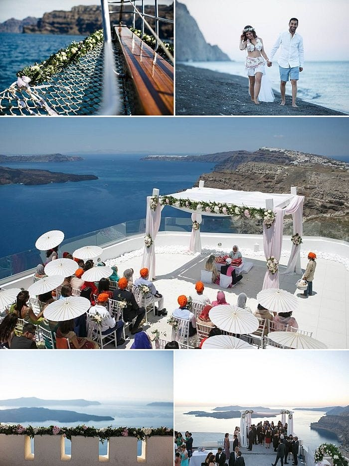 Rita & Ajay's Indian Destination Wedding in Greece planned by MarryMe in Greece photography by Nikos Gogos videography by Artifact Project