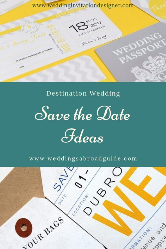 What you need to know about Save The Date for a Destination Wedding