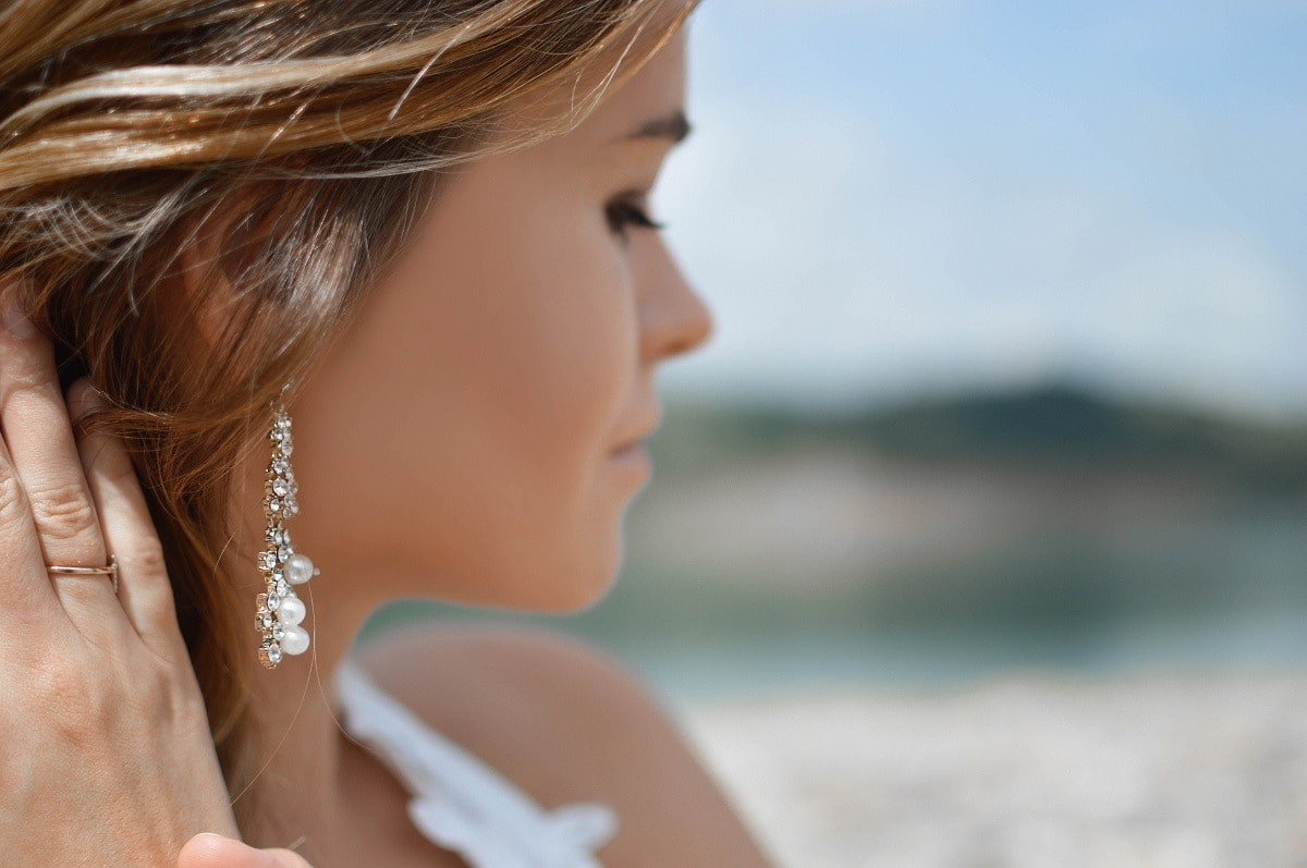 Accessorising Your Wedding Dress with Diamond Earrings