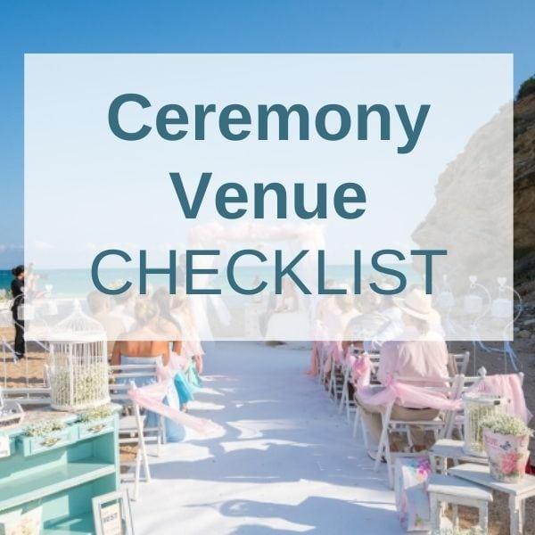 Wedding Abroad Ceremony Venue Checklist