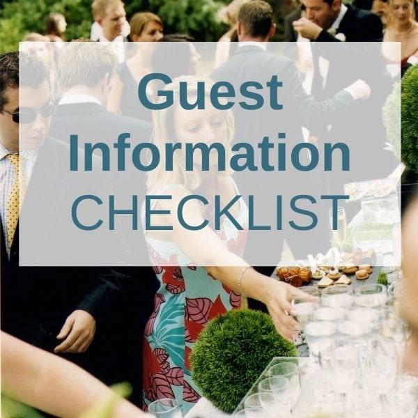 Weddings Abroad Guest Information Checklist