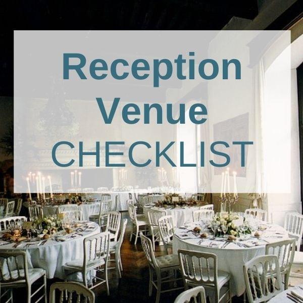 Wedding Abroad Reception Venue Checklist